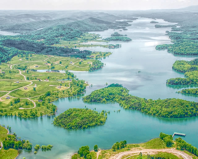 Sunset Bay Aerial Views on Norris Lake